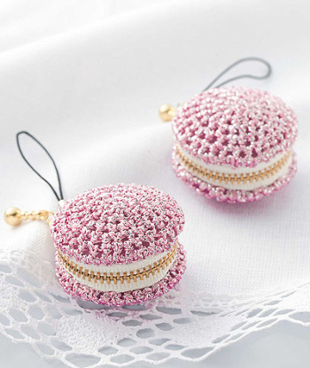 手作りキット・メタリックヤーンのミニコインケース(ピンク・2ヶセット)