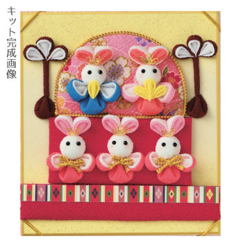 ひな祭りキット・つまみ細工の豆色紙 桃の花