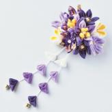 つまみ細工キット・はなやぎ髪飾り(紫)