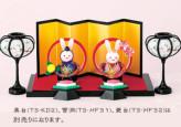 ひな祭りキット・丸い輪のおひなさま 置きびなタイプ(うさぎ)