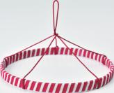 つるし紐付き 紅白リング(つるしびな用)20cm