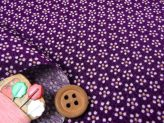 ちりめん生地・梅鉢(紫)