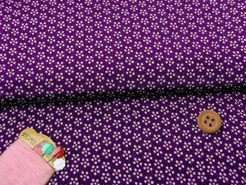 ちりめん・梅鉢(紫):カットクロス